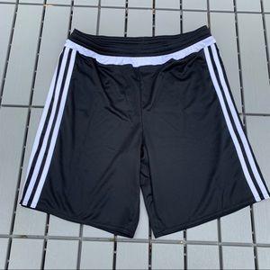 NWOT Black Adidas Soccer Shorts Youth